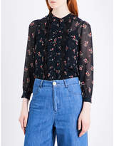 Masscob Floral silk-chiffon shirt