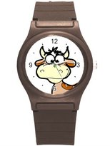 "Kidozooo Boys Girls Cartoon Cow 1 3/8"" Diameter Plastic Watch"