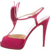 Christian Louboutin Peep-Toe Satin Sandals