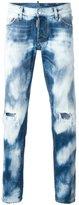 DSQUARED2 Slim bleached distressed jeans - men - Cotton - 46