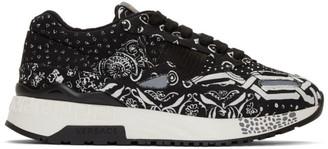 Versace Black Bandana Borderline Achilles Sneakers
