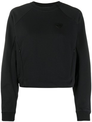 Love Moschino Logo Cropped Sweatshirt