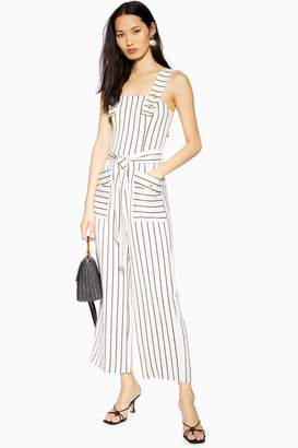 Topshop TALL Ivory Stripe Pinafore Jumpsuit