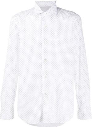 Eleventy Long Sleeve Spotted Print Shirt