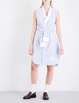 Thom Browne Wrap Oxford-cotton shirt dress