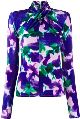 Richard Quinn Floral Print Blouse