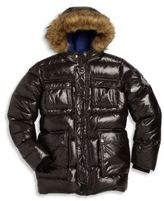 Diesel Little Boy's & Boy's Jovvy Faux Fur-Trim Down Puffer Jacket