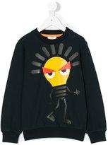 Fendi graphic print sweatshirt - kids - Cotton/Spandex/Elastane - 10 yrs