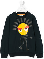 Fendi graphic print sweatshirt - kids - Cotton/Spandex/Elastane - 3 yrs