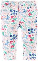 Osh Kosh Baby Girl Floral Butterfly Print Pants