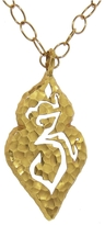 Cathy Waterman Double Heart Om Charm - 22 Karat Gold