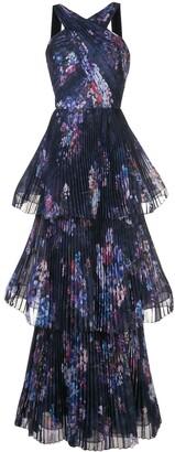 Marchesa Pleated Halterneck Gown
