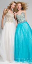Terani Couture Shimmering Beaded A-line Beaded Ball Gown