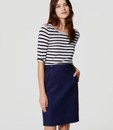 LOFT Button Tab Pencil Skirt