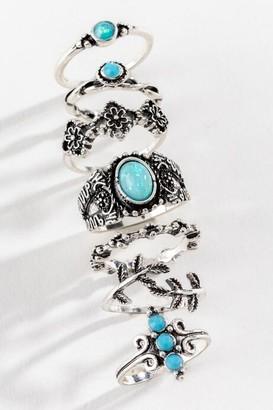 francesca's Karsyn Turquoise Boho Ring Set - Turquoise