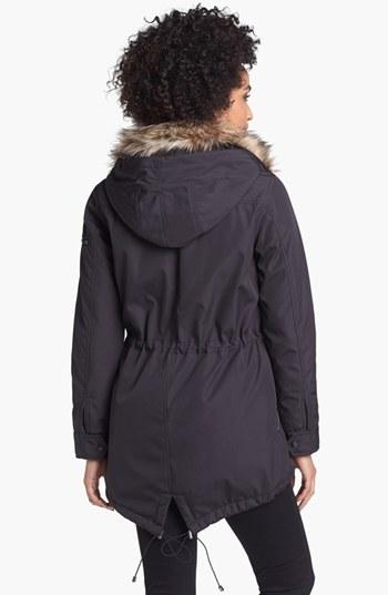 S13/NYC 'Camper' Faux Fur Trim Anorak