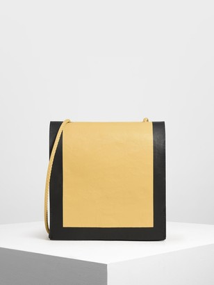 Charles & Keith Crumpled Effect Top Handle Bag