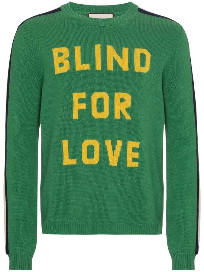 Gucci Blind For Love knitted jumper