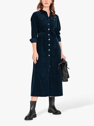 Hush Liza Corduroy Maxi Dress, Petrol
