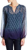 Casual Studio Split Neck Printed Blouse