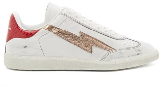 Isabel Marant Bryce Lightening-applique Leather Trainers - Red White