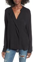Leith Drape Placket Top
