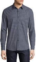Theory Zack Radnor Plaid Shirt, Navy