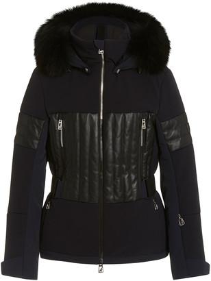 Toni Sailer Aggi Faux Leather-Paneled Fur-Hood Ski Jacket