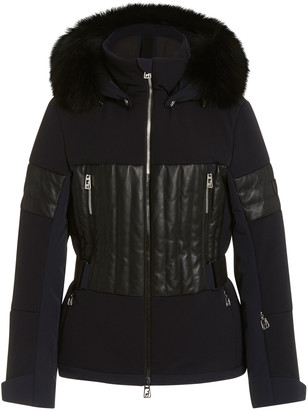 Toni Sailer Aggi Fur-Trimmed Leather-Paneled Ripstop Ski Jacket