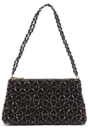 Shrimps Dawson Floral-beaded Bag - Black