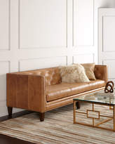 Horchow Massoud Brock Leather Sofa