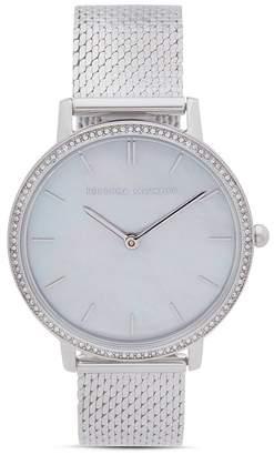 Rebecca Minkoff Major Pavé Detail Mesh Bracelet Watch, 35mm