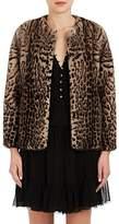 LILLY e VIOLETTA Women's Katie Leopard-Print Fur Jacket