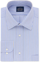 Eagle Men's Classic/Regular Fit Non-Iron Flex Collar Periwinkle Stripe Dress Shirt