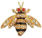 MMA Bee Brooch Pin Faux Diamonds, Faux Rubies & Enamel Costume Jewelry
