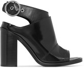 MM6 MAISON MARGIELA Paneled glossed-leather sandals