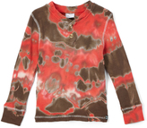 Nano Mud & Red Tie-Dye Thermal Henley - Infant, Toddler & Boys