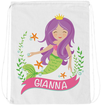 Personalized Planet Backpacks - Mermaid Personalized Drawstring Bag