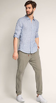 Esprit OUTLET elastic waist chino pant