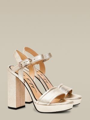 Tommy Hilfiger Elevated Metallic Leather High Heel Sandals