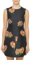RED Valentino FLYING BOUQUET S/L BROCADE DRESS