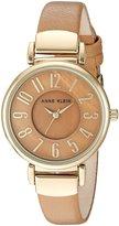 Anne Klein Women's AK/2156TMDT Analog Display Japanese Quartz Brown Watch