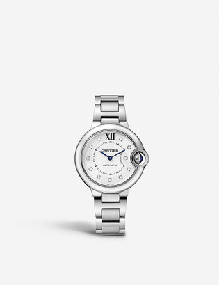 Cartier Ballon Bleu de diamond and stainless steel watch