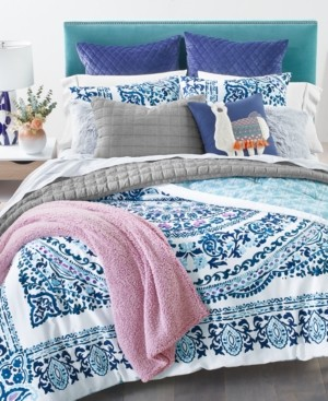 Whim by Martha Stewart Collection Valencia Mandala 3-Pc. King Comforter Set, Created for Macy's Bedding