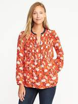Old Navy Pintuck Swing Blouse for Women