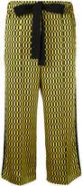 Fendi geometric print cropped trousers