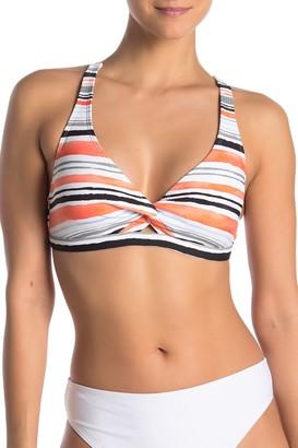 Next Earth Stripe Triangle Bikini Top