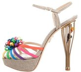 Charlotte Olympia Canvas Platform Sandals