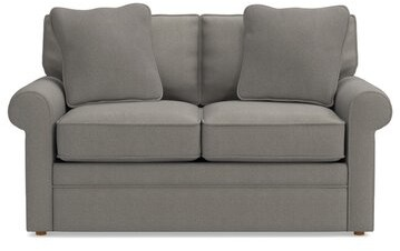 """Thumbnail for your product : La-Z-Boy Collins Premier 63"""" Rolled Arm Loveseat Upholstery: Silver"""