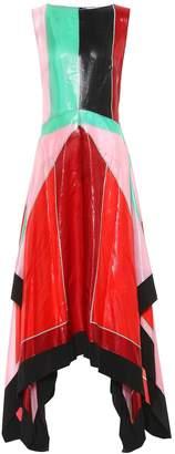 Diane von Furstenberg Metallic silk midi dress